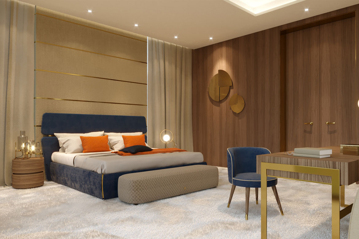 luxury bed contract furniture pianca