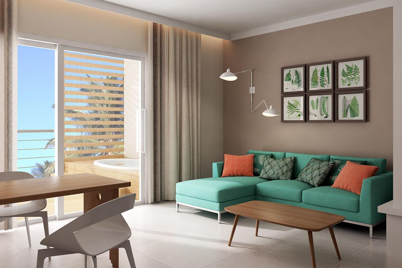 modern italian living room contract furniture by pianca hotel & resort iberostar